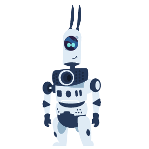 Cartoon robot named Fred