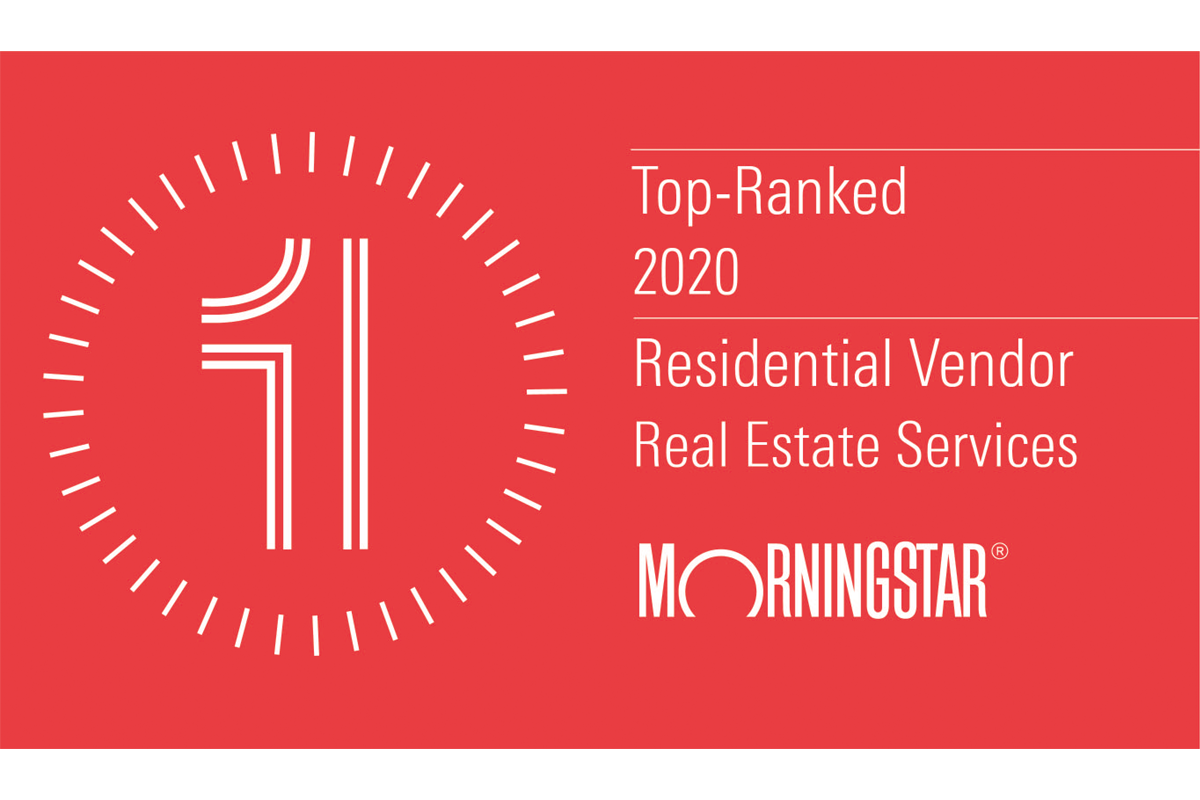 Morningstar Top Ranked Residential Vendor for Real Estate Services