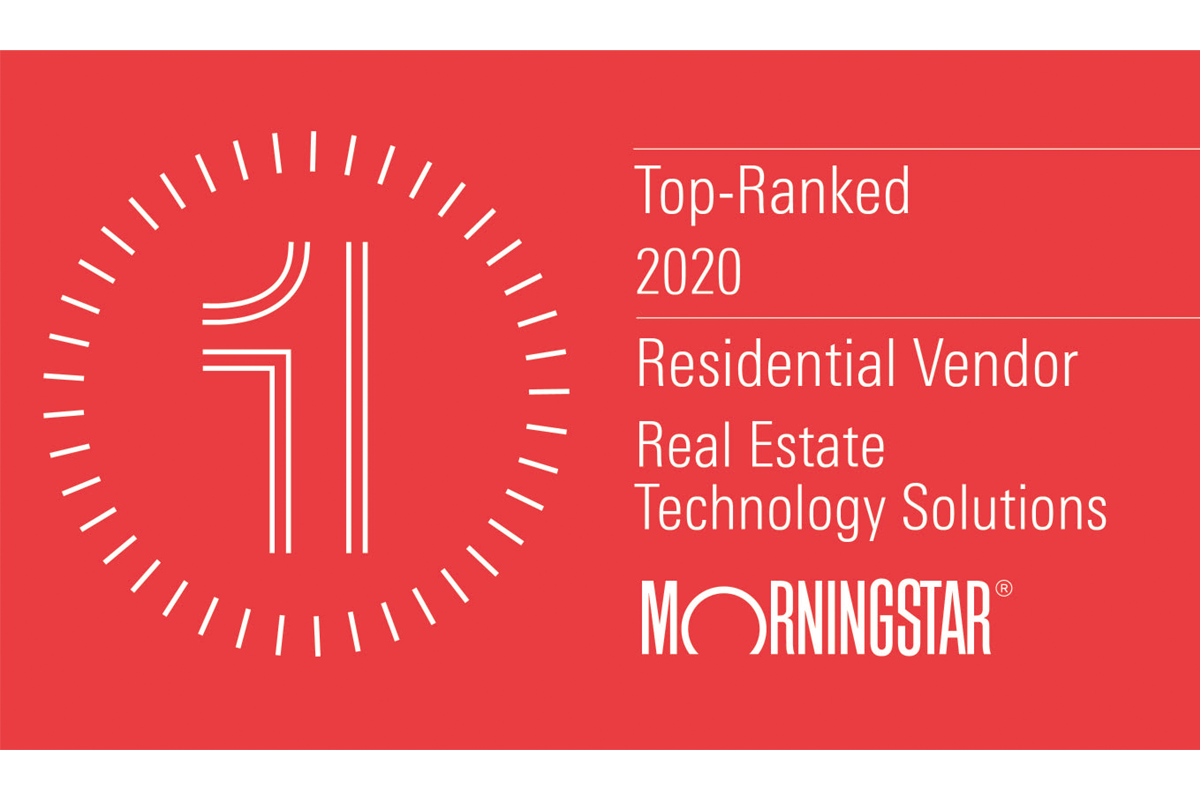 Morningstar Top Ranked Residential Vendor for Real Estate Technology Solutions